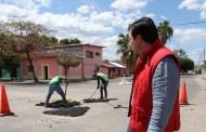 Continúan trabajos de mejoramiento urbano en la ciudad
