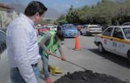 Fernando Castellanos refuerza acciones de bacheo en Tuxtla Gutiérrez