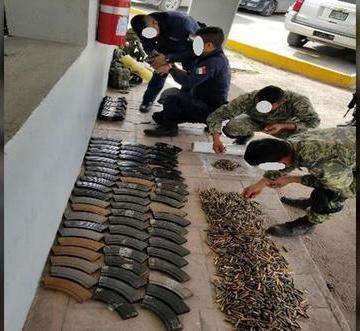 Decomisan mil 796 cartuchos hábiles en Tamaulipas