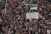 Miles de jubilados reclaman pensiones justas en España