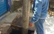 Ejecuta SMAPA desazolve de descargas domiciliarias en el Barrio Hidalgo