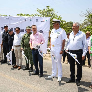 Manuel Velasco da banderazo al operativo Semana Santa Segura