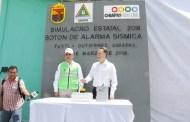 Se realiza con éxito el Simulacro Estatal 2018, informa Protección Civil