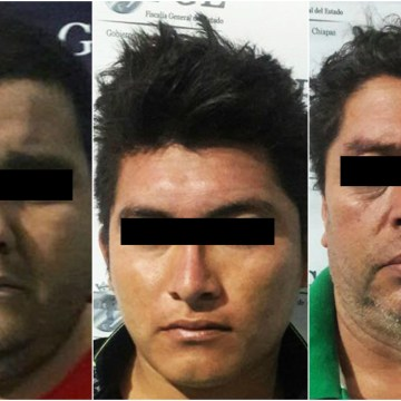 Detiene FGE a tres presuntos sujetos implicados en diversos robos en la cuidad de Palenque