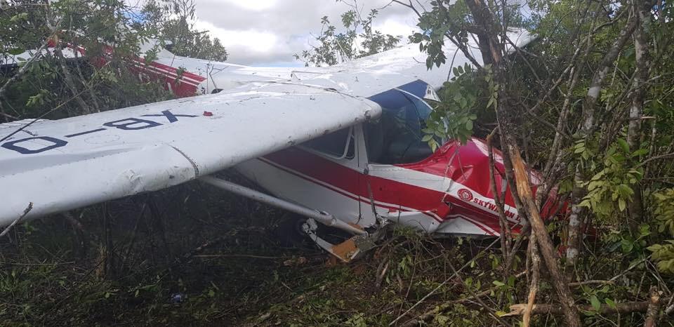 Desplome de una aeronave en las Margaritas