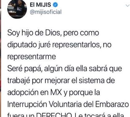 """""""Soy hijo de Dios, pero como diputado juré representarlos"""": Mijis sobre el aborto"""