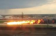 Encuentran las cajas negras de avión incendiado en Moscú