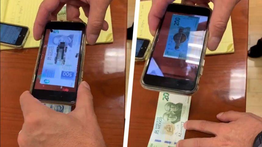 ¡Mira! Así es la realidad aumentada en los nuevos billetes de 200 y 500 pesos