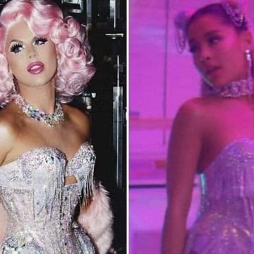 Drag queen acusa a Ariana Grande de copiar su estilo