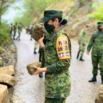 Ejercitó Mexicano aplica Plan DN-III-E a inmediaciones del municipio de Chicoasén, Chis. y poblados aledaños