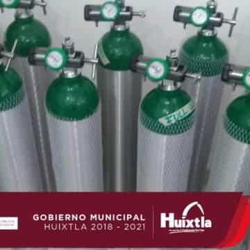 Huixtla adquiere tanques de oxígeno para traslados urgentes