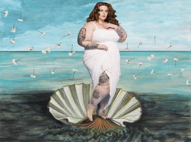 Tess Holiday as Venus the Goddess of Love