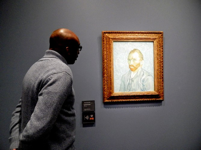The Hubby and Van Gogh's self portrait