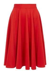 Closet Curve Red Panel Midi Skirt