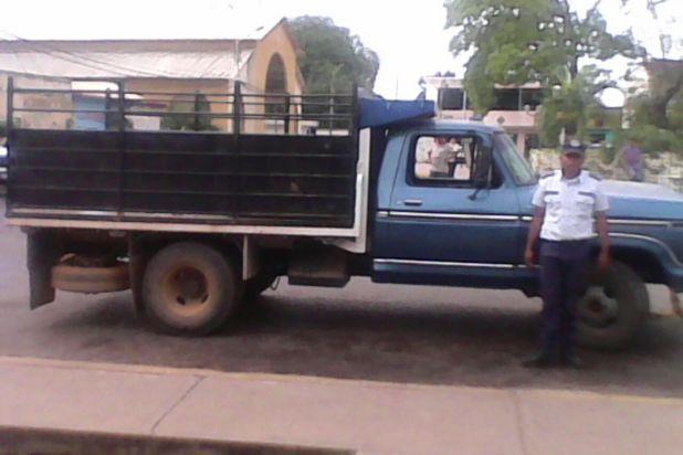 El camión recuperado en tiempo récord en la población de Las Mercedes del Llano