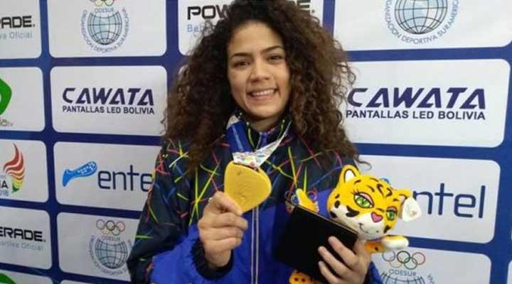 Judora Anrriquelys Barrios obtuvo oro.
