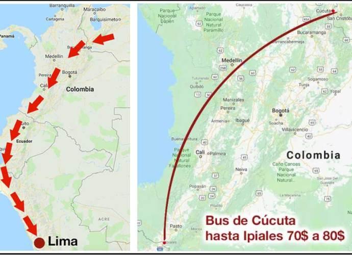 Viajar de Venezuela a Perú