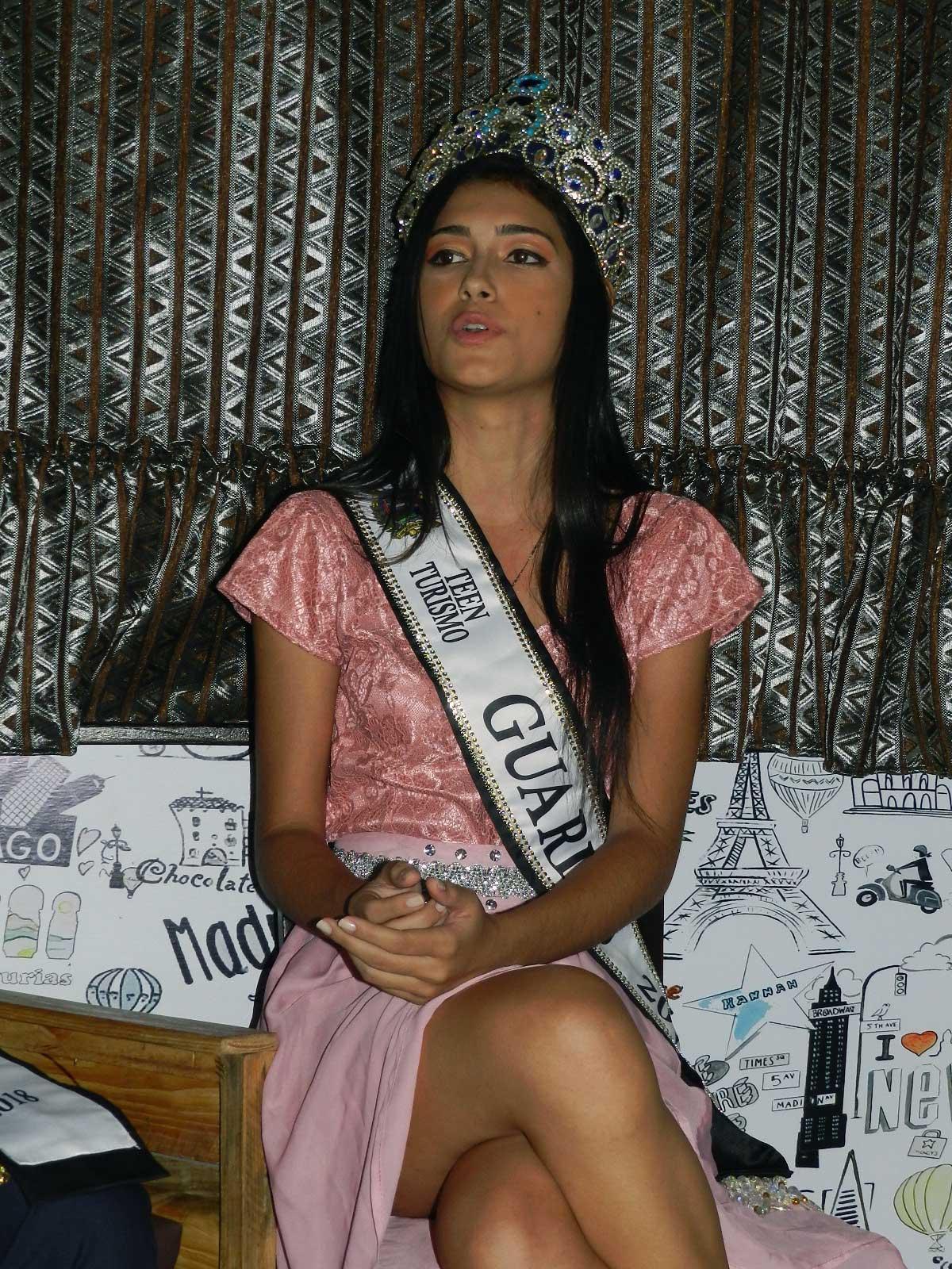 María Concepción García como Miss Teen Guárico 2018