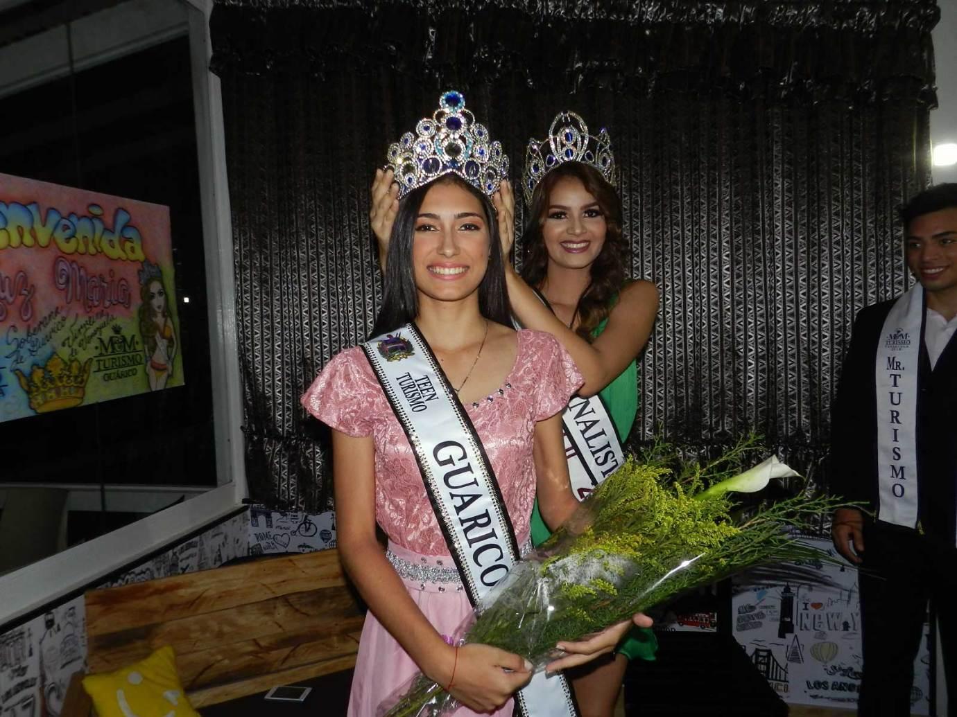 Fue propicia la ocasión para coronar a María Concepción García como Miss Teen Guárico 2018