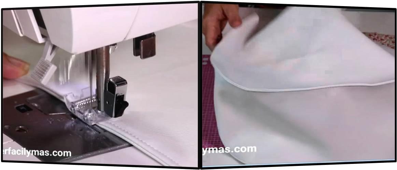 Pespuntes alrededor y lista la parte exterior del bolso carlota