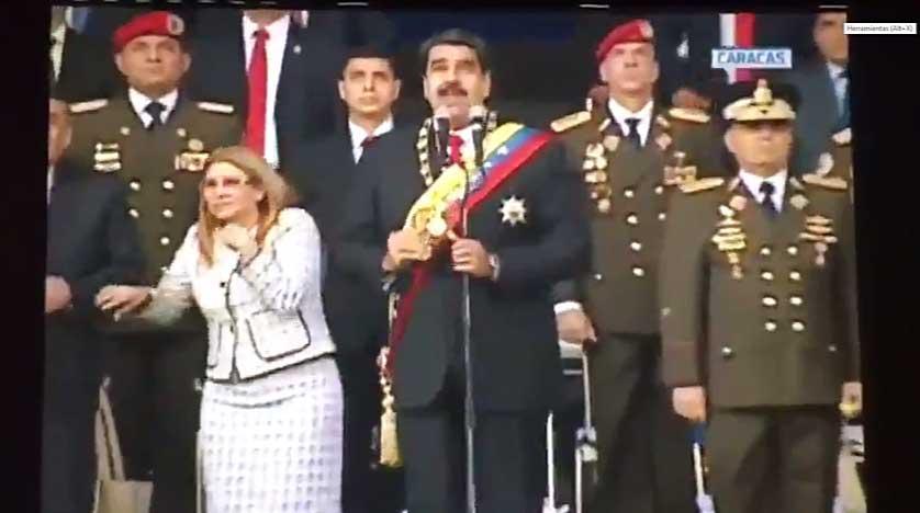 Atentado presidente Nicolas Maduro explsiones drone