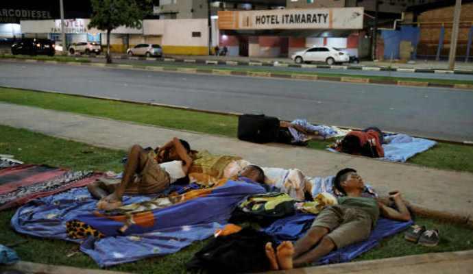 Unos 500 venezolanos fueron retirados de las calles de la ciudad de Boa Vista