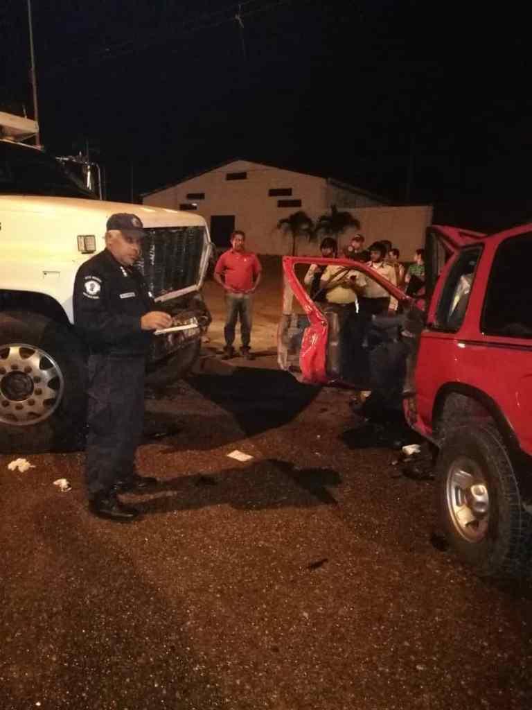Funcionarios de la Policía Nacional Bolivariana iniciaron las investigaciones. El choque fue frontal.