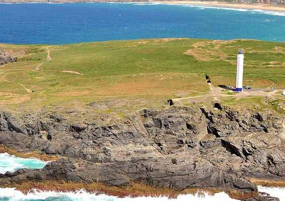 Faro de Frouxeira en Galicia