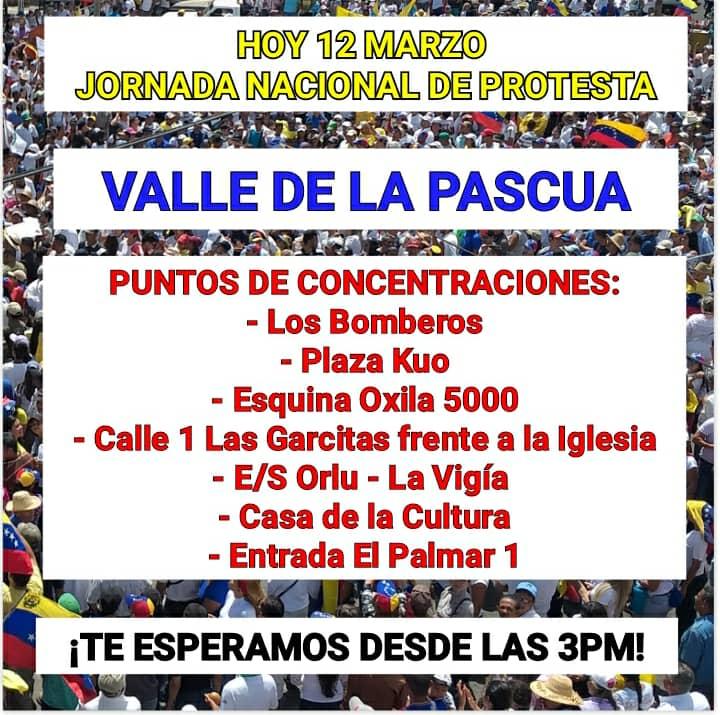 La oposición anunció nueva marcha para este 12 de Marzo.