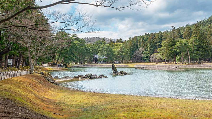 La laguna Oizumi ga Ike, fantastica y de postal