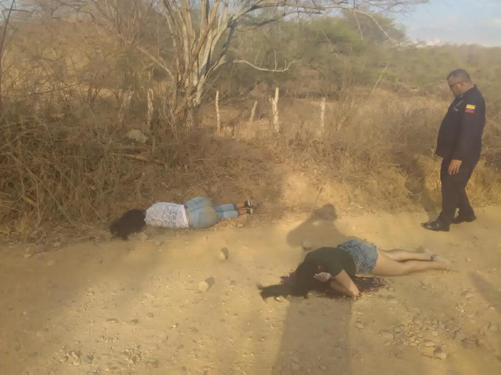 Los cuerpos de las dos mujeres quedaron en una zona rural de Zaraza con disparos en la cabeza. Foto Cortesía.