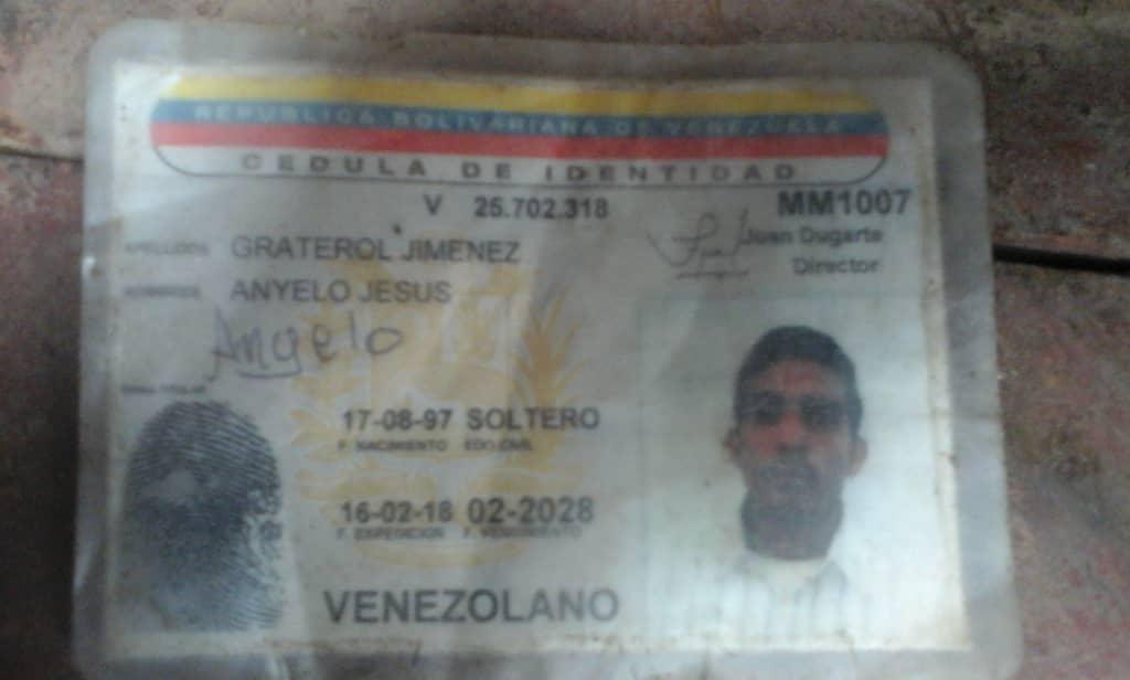 Graterol Jiménez Abuelo Jesús de 18 años. Asesinado en la zona norte de La Pascua.