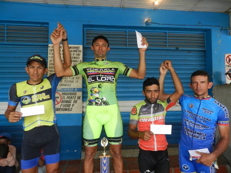 Premiación en categoría master A ciclismo chaguaramas