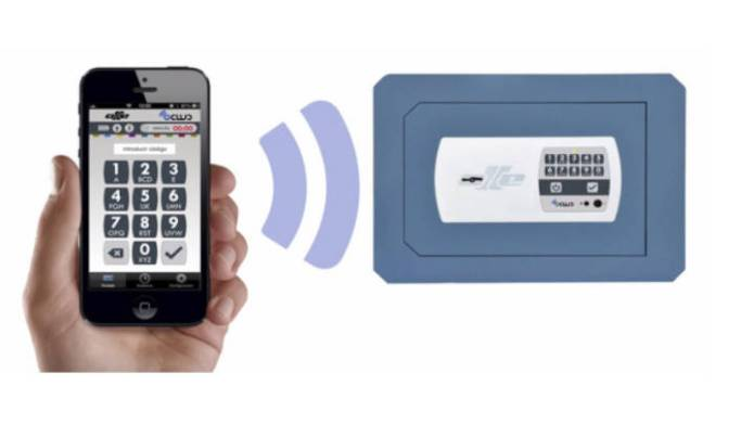 Caja fuerte inteligente combinado con el Smartphone.