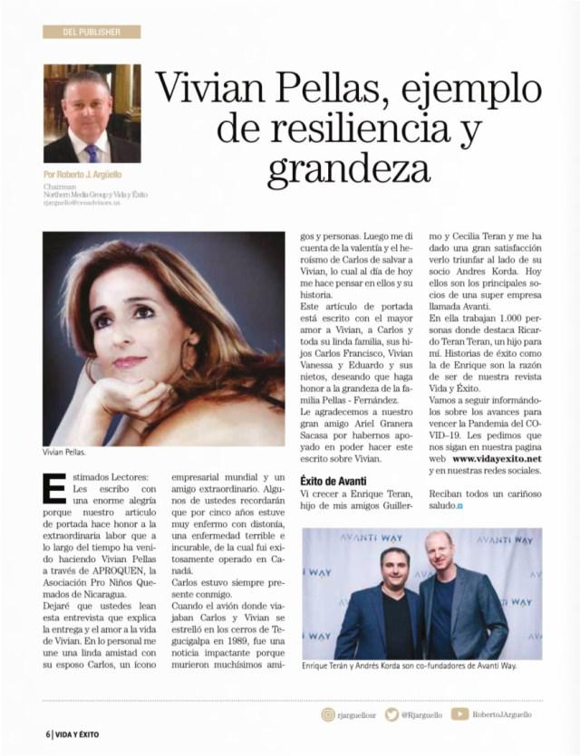 Doña Vivian Pellas, Vida y Éxito