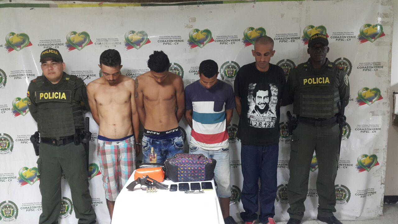 En operativo contra el hurto a persona 4 capturados