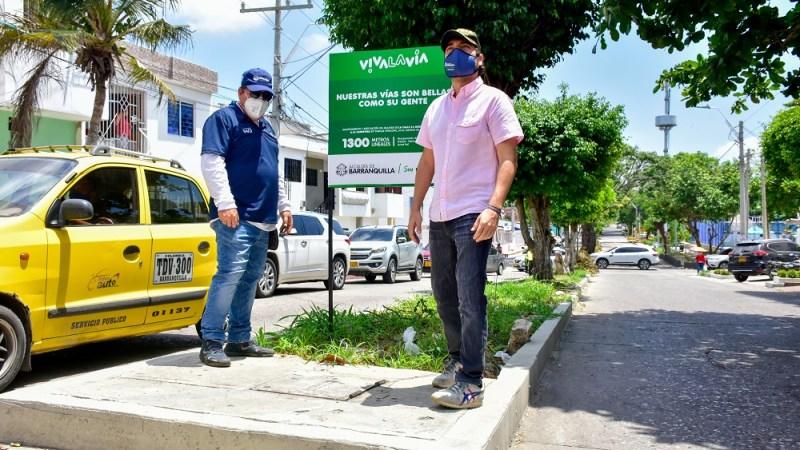 Alcalde Pumarejo inspeccionó obras en 8 bulevares: más espacios y zonas verdes para Barranquilla