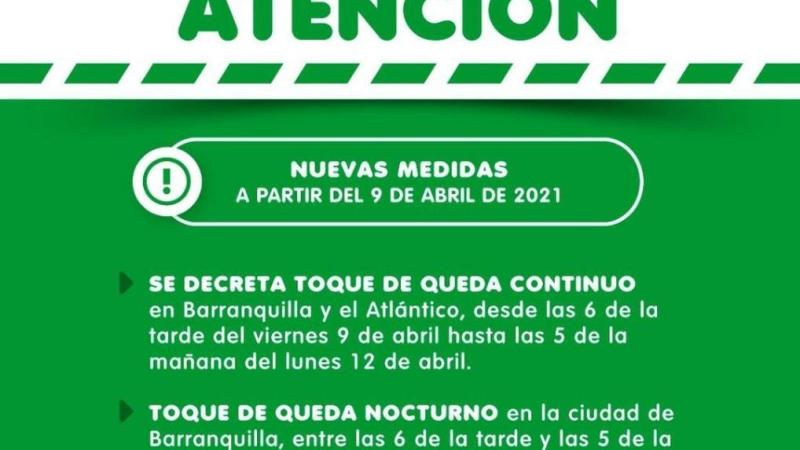Atención: nuevas medidas a partir del 9 de abril de 2021
