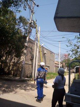 Este jueves 22 de abril  Trabajos eléctricos para la mejora del servicio de energía en el barrio El Concord