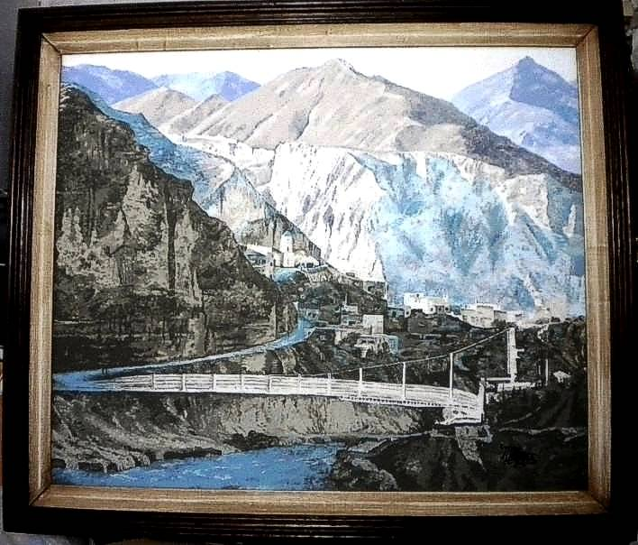 Iruya, por Mónica Flores. Acrílico sobre lienzo, 50 x 60 cm.