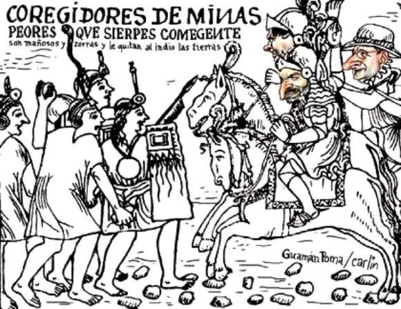 Corregidor - por Guamán Poma de Ayala