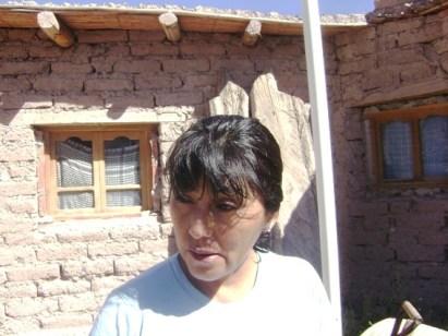 Ester Toconas, de la Comunidad Cueva del Inca