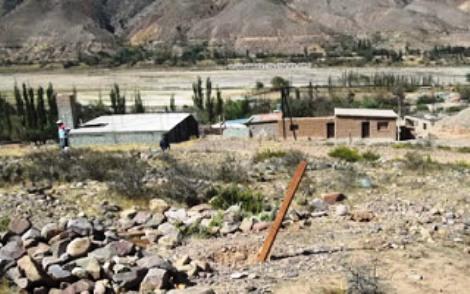 Vista de parte del territorio en conflicto