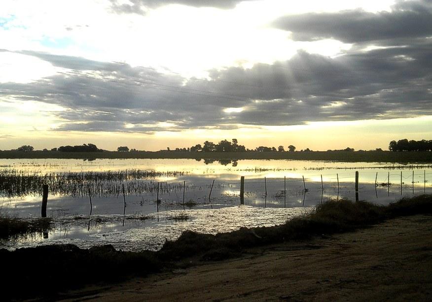 La inundación también otorga paisajes esplendorosos