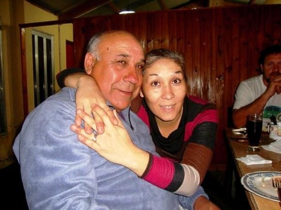 Chobola (el cumpleañero) y Analía