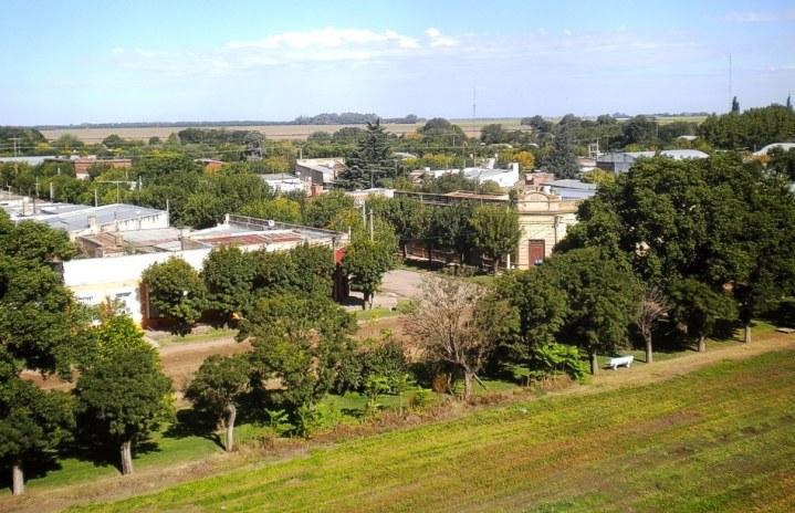 Otra vista aérea de San Eduardo. (Foto: Pablo Harvey)