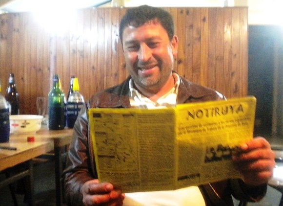 Santiago Roldán, de San Eduardo (Santa Fe) con NOTIRUYA