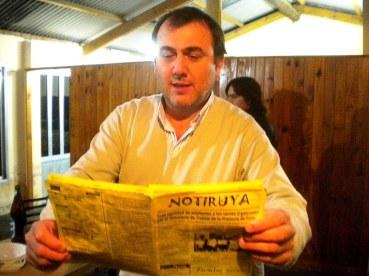 Mario Giovagnoli lee NOTIRUYA