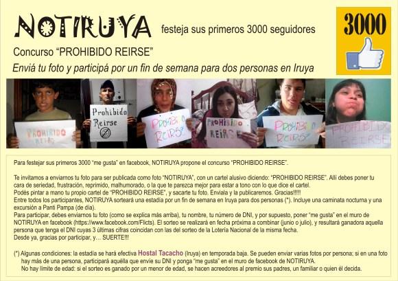 """Afiche del Concurso """"PROHIBIDO REIRSE"""""""