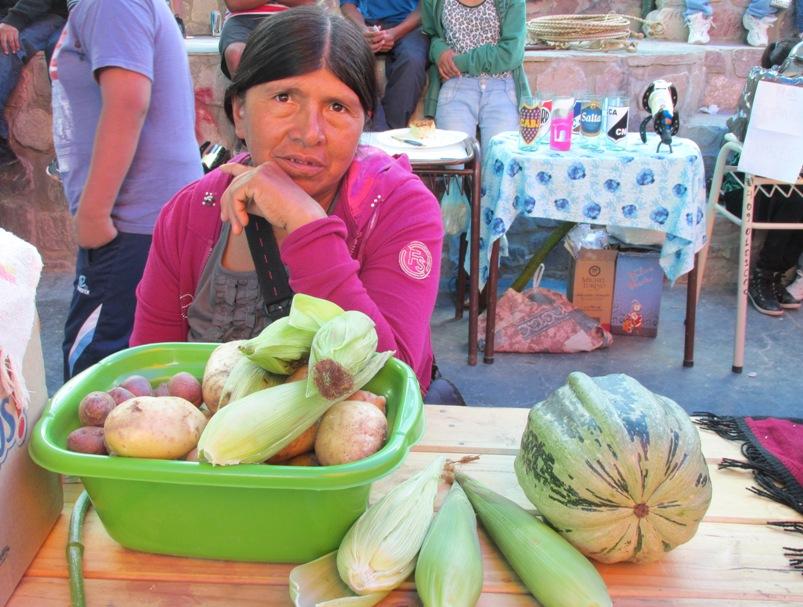 Choclos, papas, zapallo. Todo cultivado en la zona de Iruya. (Foto: Pablo Harvey).